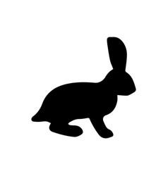 rabbit black icon vector image