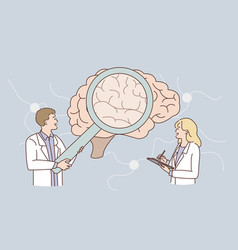 research human brain concept vector image