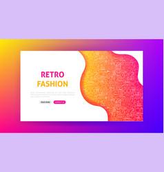 Retro fashion landing page vector