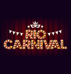 Rio carnival background carnival vintage vector