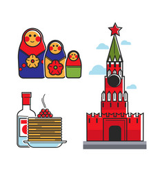 Russia soviet union symbols for ussr russian vector