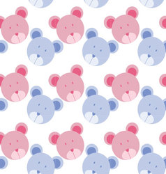 Seamless background with bear bear pattern vector