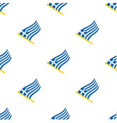 seamless pattern with flags greece vector image