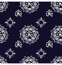 Seamless pattern with Om ornament vector image