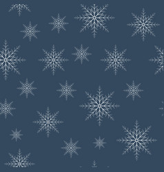 seamless snowflakes pattern eps10 vector image