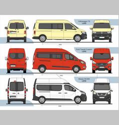 Set passenger vans l2h2 2015 vector
