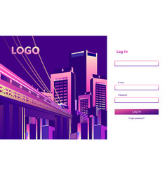 Sign up in form vector