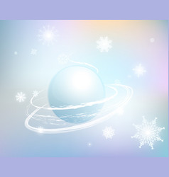 snow-background-1 vector image