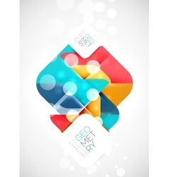 Square and triangle pattern background vector