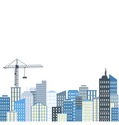Urban landscape city background grey and blue vector