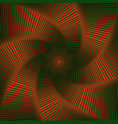 Whirling sequence with red and green octagonal vector