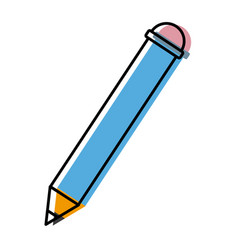 Woden pencil isolated vector