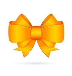 Yellow decorative bow emblem vector