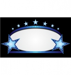 blue oval vector image vector image