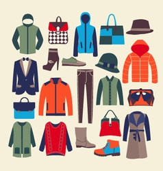 fashion clothes and accessorie- vector image