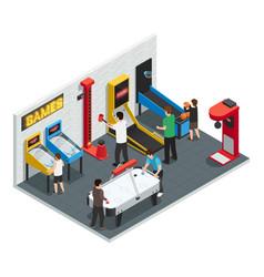 game club interior colored concept vector image
