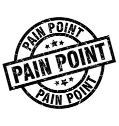 Pain point round grunge black stamp vector