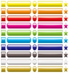 button collection rainbow vector image