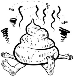 doodle squish poo pile vector image