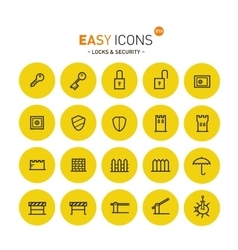 Easy icons 01 Security vector image vector image