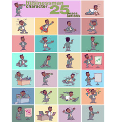 large set of ethnic businessman character vector image