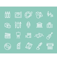 Line Art Icons Music theater and artistic icons vector image vector image