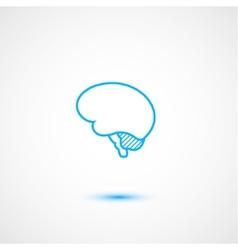 Minimal brain icon vector image vector image