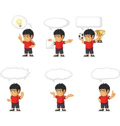 Soccer Boy Customizable Mascot 21 vector image