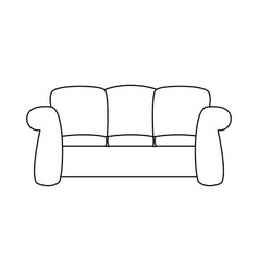 sofa furniture comfort interior decor vector image vector image