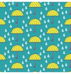 Umbrella vs Rain vector image vector image