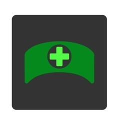Doctor Cap Flat Button vector image
