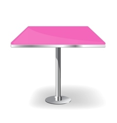 Empty rectangle Table vector image vector image