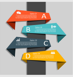 infographic template with elements and icons vector image vector image