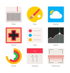 Minimal Flat Icons for mobile phones Set 4 vector image vector image