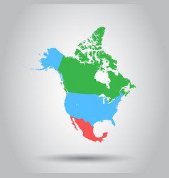 north america map icon business cartography vector image