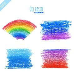 OilPastelRainbow vector image