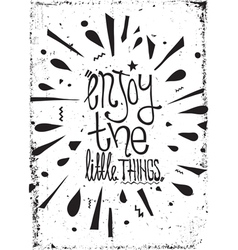 Simple vintage motivational poster doodles with vector image vector image