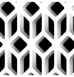 3D Lattice Seamless Pattern vector image