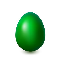 acid green easter egg on a white background vector image