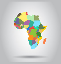 Africa map icon business cartography concept vector