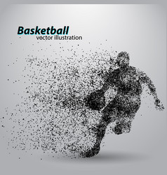 basketball player from particles vector image