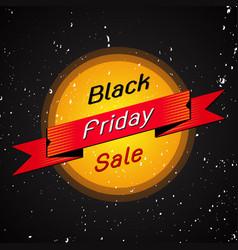 black friday sale banner on black vector image