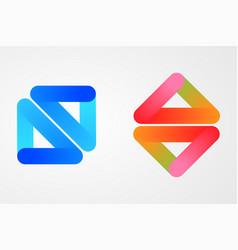 blend glossy logo design vector image