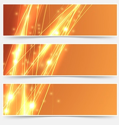 Bright swoosh speed line abstract header set vector