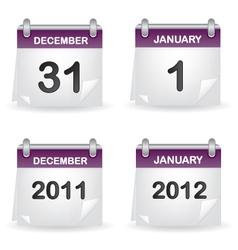 Calendar purple vector image vector image