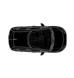 Car from top view flat design auto vector