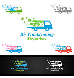 Car snow air conditioning and heating services vector