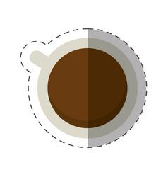 Coffee cup beverage cut line vector