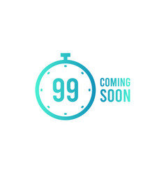 coming soon sign icon promotion announcement vector image