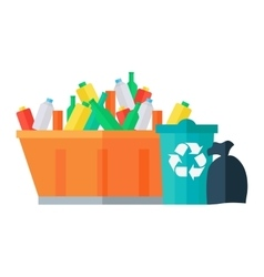 Containers for Garbage in Flat Design vector